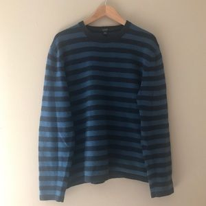 J. Crew Navy Blue and Blue Sweater